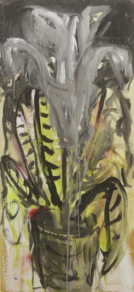 Zátiší II, 122 x 47 cm, akryl na sololitu