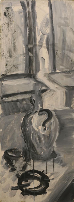Zátiší V, 122 x 43 cm, akryl na sololitu