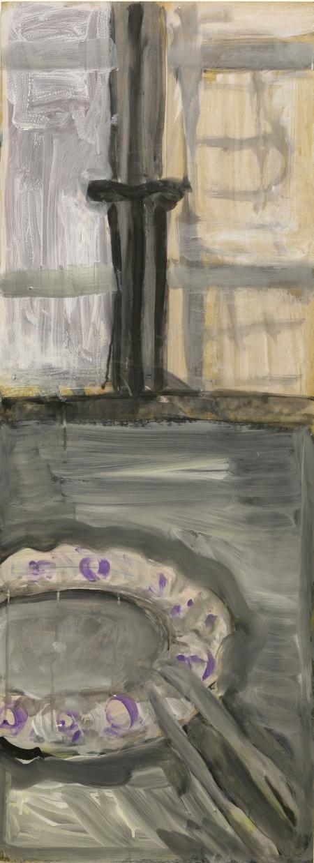 Zátiší VII, 122 x 43 cm, akryl na sololitu
