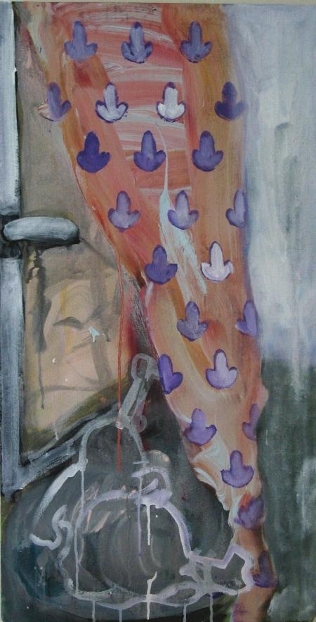 Zátiší, 110 x 75 cm, akryl na plátně
