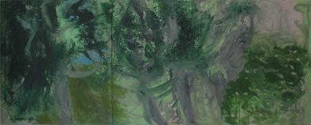Tossa (diptych), 110 x 275 cm, akryl na plátně, soukromá sbírka