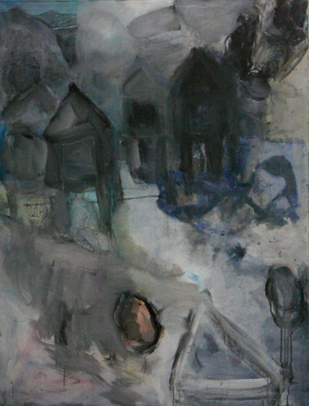 Jajce (z cyklu Místa), 130 x 100 cm, akryl na plátně, sbírka města Jajce - BiH