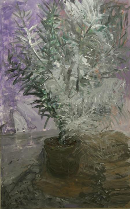 Datlovník, 175 x 110  cm, akryl na plátně