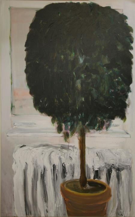 Fikus , 175 x 110  cm, akryl na plátně
