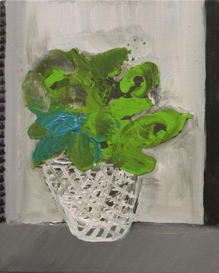 Zelíčko, 50 x 40  cm, akryl na plátně