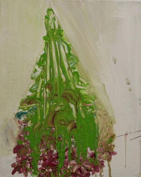 Sasanky, 50 x 40  cm, akryl na plátně