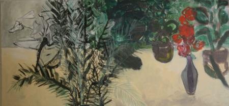 Zátiší v Kamenické, 90 x 190  cm, akryl na plátně, soukromá sbírka
