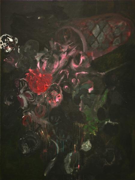 Kytice I, 240 x 180  cm, akryl na plátně