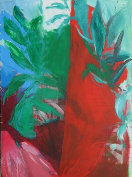 Zahrada, 200 x 140 cm, akryl na plátně