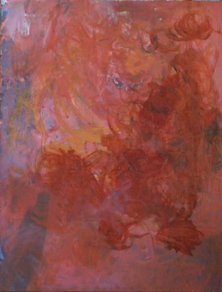 Juxtapose, 130 x 110 cm, komb. techn. na plátně