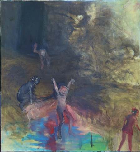 Výjevy mého nadržení, 140 x 120 cm, akryl na plátně, soukromá sbírka