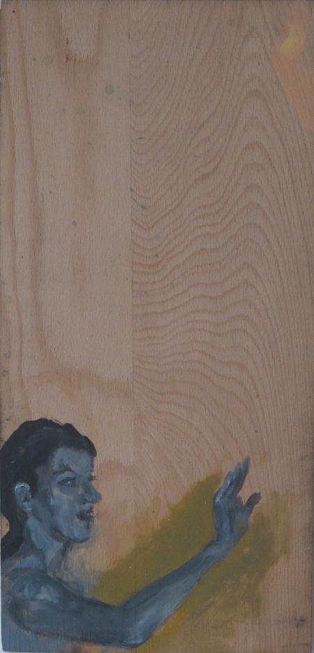Výjev mého nadržení III, 47 x 25 cm, akryl na dřevě