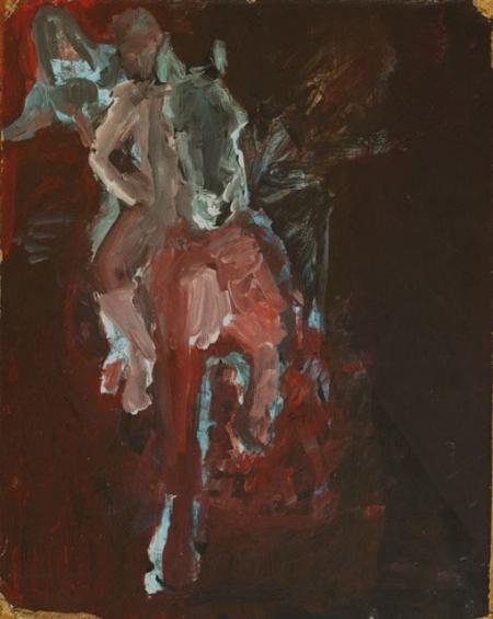 AsaSasa nebeští jezdci II, 30 x 20 cm, akryl na sololitu