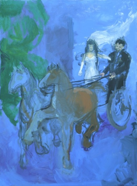 Svatebni cesta, 95 x 70 cm, akryl na plátně