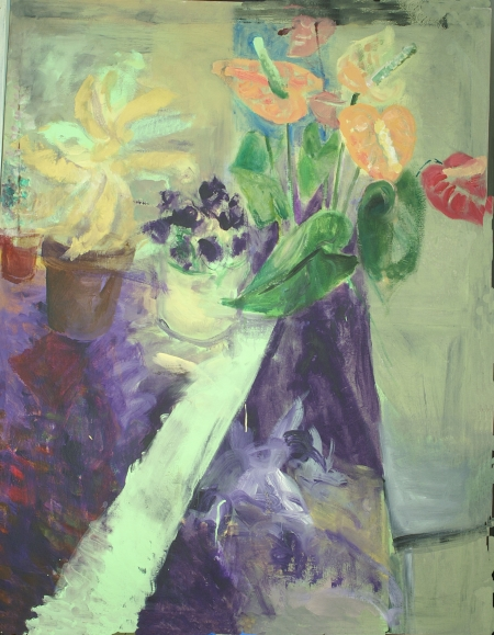Anturie, 180 x 140 cm, akryl na plátně, soukromá sbírka