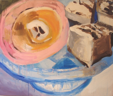 Dezert, 110 x 130 cm, akryl na plátně