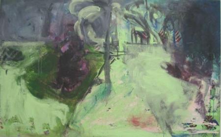 Park I, 110 x 175 cm, akryl na plátně, KGVU Zlín