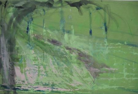 Park II, 110 x 175 cm cm, akryl na plátně, KGVU Zlín