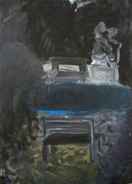 Park III, 70 x 50 cm, akryl na plátně, soukromá sbírka
