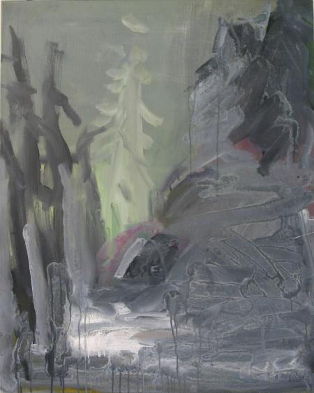 Park Hradec II, 100 x 80 cm, akryl na plátně