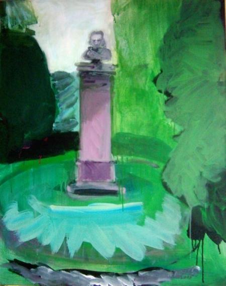 Park Hradec III, 100 x 80 cm, akryl na plátně