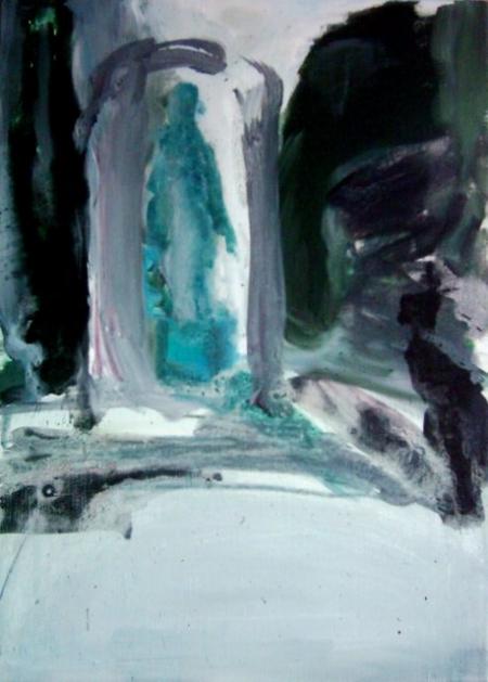 Park VI, 70 x 50 cm, akryl na plátně
