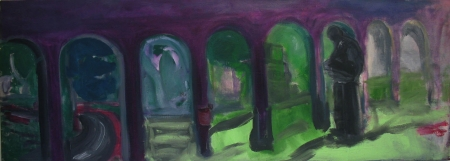 Park, 80 x 220 cm, akryl na plátně
