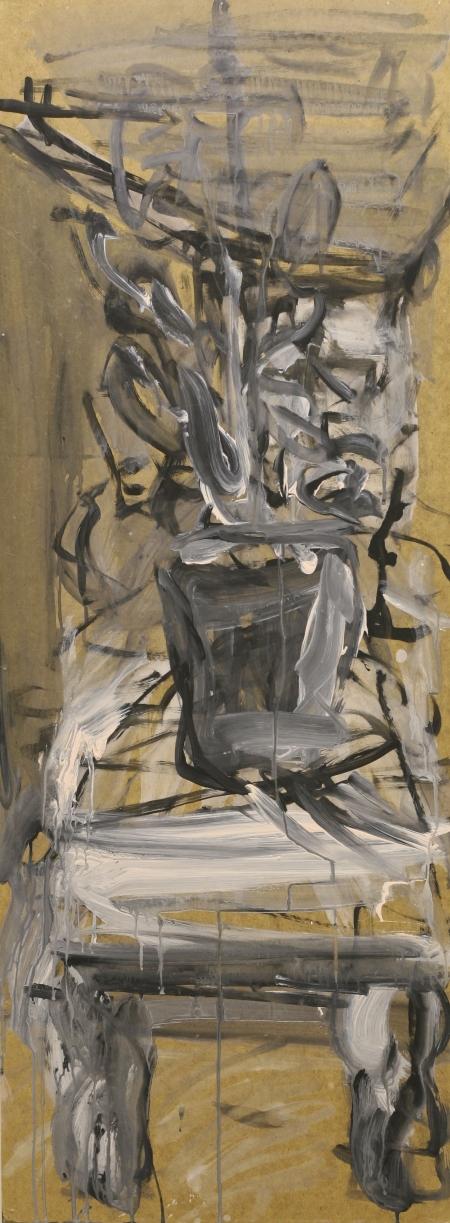 Zátiší I, 122 x 43 cm, akryl na sololitu