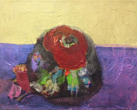 Bábovička III, 40 x 50 cm, kombinovaná technika na plátně