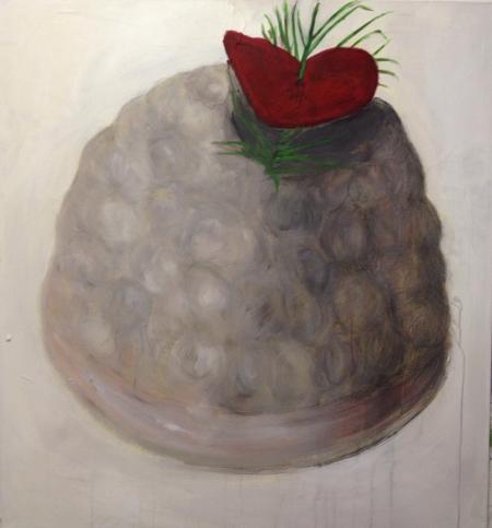 Bábovička VI, 125 x 120 cm, akryl na plátně