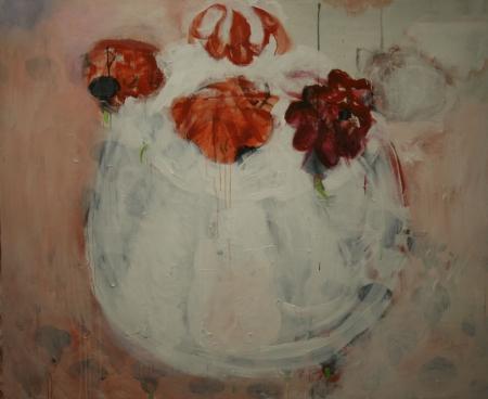 Bábovička II, 145 x 170 cm, akryl na plátně