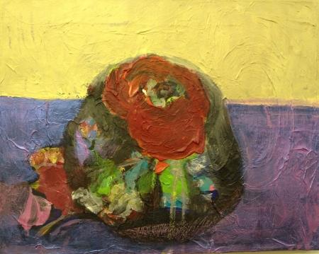 Bábovička VIII, 40 x 50 cm, kombinovaná technika na plátně