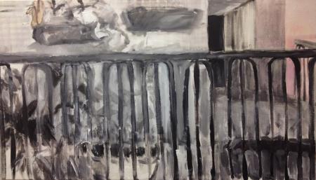Balkon VIII, 105 x 170 cm, akryl na plátně