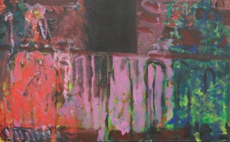 Balkon V, 100 x 170 cm, akryl na plátně
