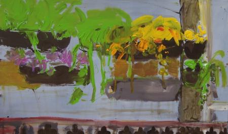 Balkon VII, 105 x 175 cm, akryl na plátně