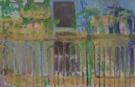 Balkon VI, 105 x 170 cm, akryl na plátně