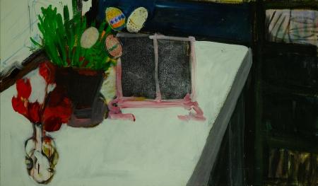 Stůl VIII, 100 x 170 cm, akryl na plátně
