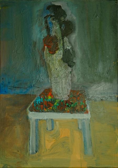 Vanitas II, 80 x 50 cm, akryl na plátně