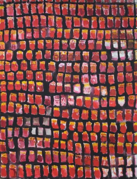 Dušičky, 240 x 180 cm, akryl na plátně
