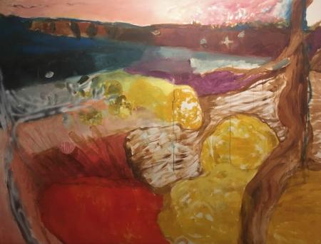 Provence - Hyeres, 140 x 180 cm, akryl na plátně