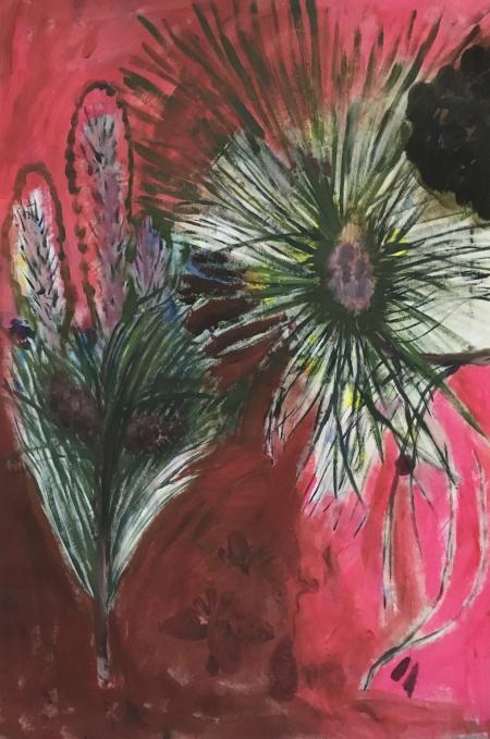 Borovice I, 160 x 80 cm, akryl na plátně