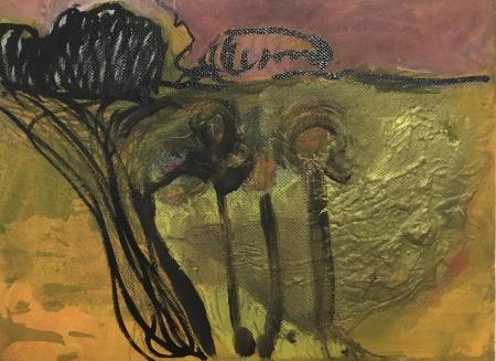 Venku I, 18 x 24 cm, akryl na plátně