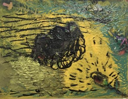 Venku II, 18 x 24 cm, akryl na plátně
