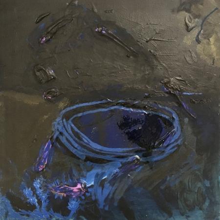 Studánka, 20 x 20 cm, akryl na plátně