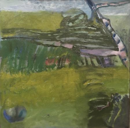 Bříza, 50 x 50 cm, olej na plátně