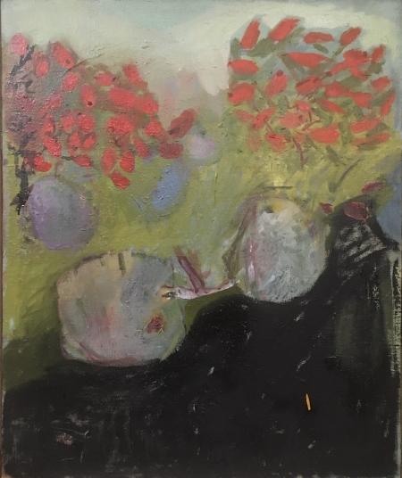 Šípky, 50 x 40 cm, olej na plátně