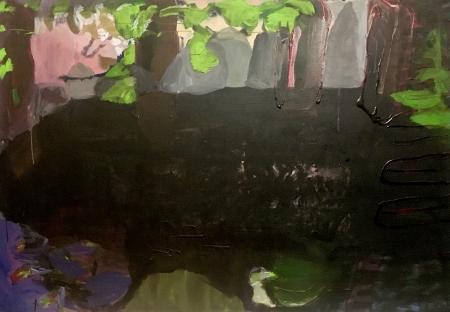 Jezírko V, 140 x 200 cm, akryl na plátně