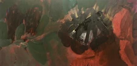 Ohniště, 50 x 100 cm, akryl na plátně