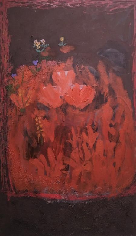 Jaro, 90 x 50 cm, akryl na plátně