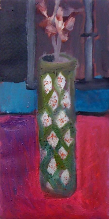 Kytka III, 25 x 18 cm, akryl na plátně, soukromá sbírka